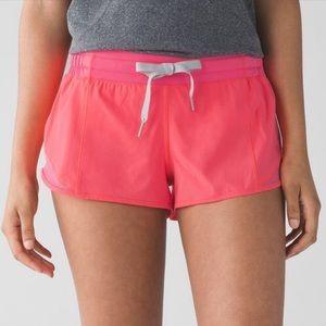 LULULEMON | Hotty Hot Pink Zipper Pocket Shorts 6